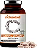 NatureBell Super Vitamin C from Fruits and Berries, 120 Vegetarian Capsules, Best Immune Vitamin to Supports Immune System and Antioxidant, Non-GMO and Vegan Friendly