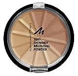 Manhattan 3in1 Bronzing Powder, 002, Bronze Shimmer, 3er Pack(3 x 9.9 ml)