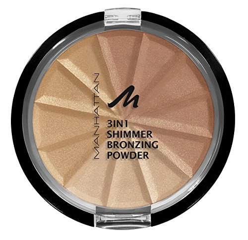 Manhattan 3in1 Bronzing Powder, 002, Bronze Shimmer, 3er Pack(3 x 9.9 ml)