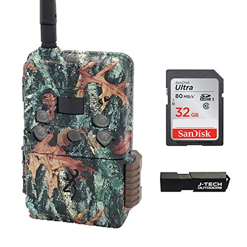 Browning Defender Wireless Pro Scout Cellular Trail Game Camera (Verizon) Bundle Includes 32GB Memory Card and J-TECH Card Reader (18MP) | BTCDWPS-VZW