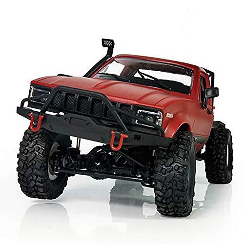 AimdonR Skala Semi Truck 2.4G WPL C14 1/16 Ferngesteuertes Auto 4WD RC Spielzeug RTR Off Road Alle Gelände Kind Anhänger Militärspielzeug mit Metallrahmen LKW