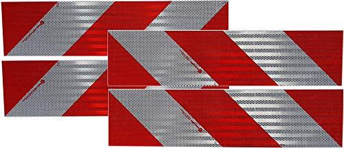 UvV® 3M Kfz Warnmarkierung 4x564mm für ein Kfz nach DIN 30710 Folie Typ 823i Komplettset entspricht 8 Normflächen (Rot-Weiß Klebeset)