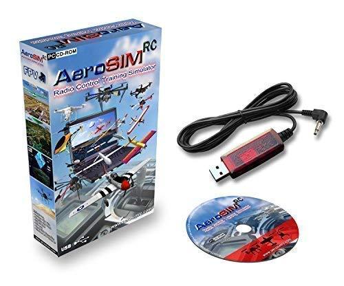 Simulador Drones AeroSIM RC | Simulador Entrenamiento Piloto de Dron | Avion Helicoptero Multirrotor RPA | Flight Training Drone Simulator | Adaptador FUT (Futaba)