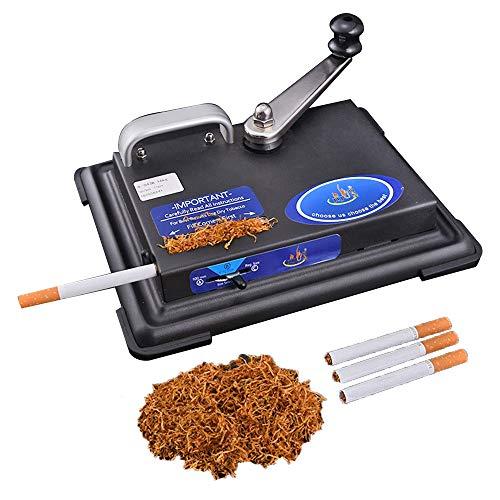 YUNSHAO Mikromatic Duo Zigaretten Stopfmaschine, Chrom, Black, 18 X 9 X 12 cm