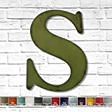 Metal Letter S - 8', 12', 16', 22', 30' or 35' inch tall - Handmade metal wall art - Choose your Patina Color, Size and Letter or Number - Metal Letters for Living Room, Bedroom or Nursery