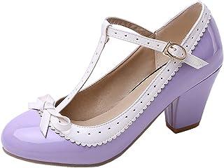 TAONEEF Women Sweet Block Heels Pumps High Heels