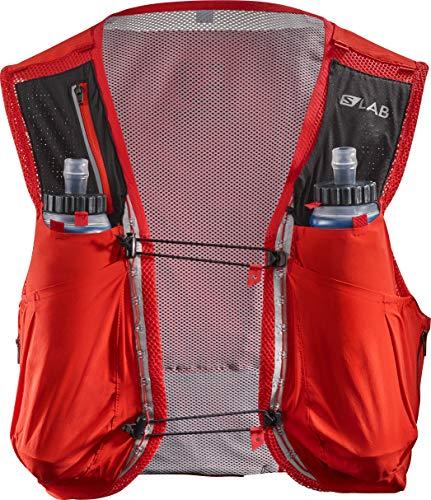 SALOMON Bag S/Lab Sense Ultra 8 Set - Bolsa de hidratación, Unisex Adulto, Rojo(Racing Red)