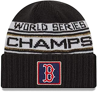 dfda5d0f FREE Shipping on eligible orders. New Era Boston Red Sox 2018 World Series  Champions Men's Locker Room Knit Hat