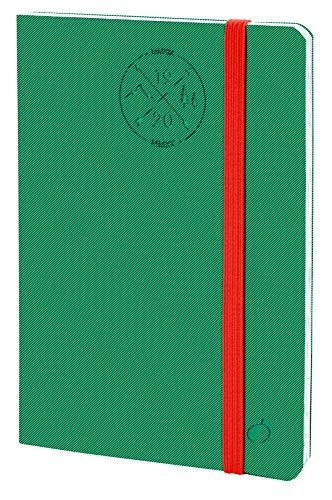 Quo Vadis 14800120MQ Anno 2020 PRESIDENTE 16 MESI ML Everest, 21 x 27 cm, Elastico, Settimanale - Sett/Dic, Verde