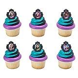 Disney Descendants 2 Rebel Attitude Cupcake Rings/Toppers - 12 count