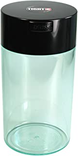 Tightpac America, Inc. Tightvac - 3 to 12 Oz Vacuum Sealed Storage Container, 1.3-Liter/1.1-Quart, Black Cap & Clear Body