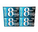 Maxell 8mm gx-mp120cintas de vídeo (Pack de 4unidades)