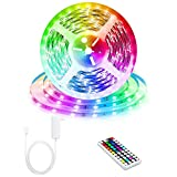 LEDテープライト ストリップライト 5m RGBカラー 44キーで変更 RFリモートコントローラー 5050 非防水 キッチン ベッドルーム ホーム テレビ パーティー クリスマス フェスティバル 結婚式の装飾 LEDロープ 照明ストリップ