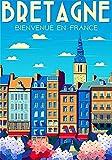 Vintage-Blechposter, Frankreich-Poster, Bretagne Post