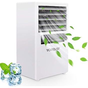 Yorbay Mini Aire Acondicionado portatil 3 En 1 Climatizador Ventilador y humidificador,Aire Enfriador Evaporativo de 3 velocidades
