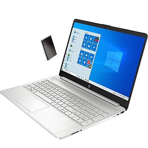 """2020 HP 15 15.6"""" Touchscreen Laptop Computer, 10th Gen Intel Core i3 1005G1 Up to 3.4GHz (Beats i5-7200U), 8GB DDR4 RAM, 1TB HDD, 802.11AC WiFi, Type-C, HDMI, Silver, Windows 10, YZAKKA Mouse Pad"""