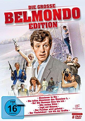 Die große Belmondo-Edition (u.a. Abenteuer in Rio, Monsieur L., Der Teufelskerl, Der Panther wird gehetzt) [8 DVDs]