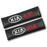 QIEP 2 unids/Set Funda de Fibra de Carbono Funda de cinturón de Seguridad Almohadilla de diseño de Coche para Kia Ceed Rio Sportage R K3 K4 K5 Sorento Cerato