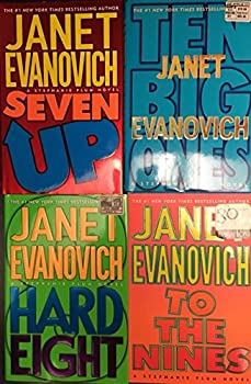 Set of Four Janet Evanovich Hard Covers  Seven Up  Hard Eight  To The Nines  Ten Big Ones