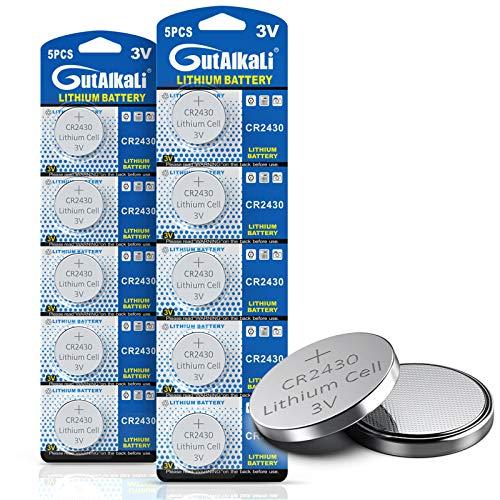 3V Lithium-Knopfzelle CR2430 Batterien, 10er Votivkerzen, Teelichter, Video, Computer, Rechner, IC-Karten, elektrische Produkte