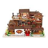 sharprepublic DIY Maison de Poupées en Bois Miniature Fabriqué Kit-Maison de Poupée Miniature DIY Maison à Construire Maison Miniature en Kit