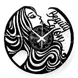 Instant Karma Clocks - Reloj de Pared de Vinilo, Idea de Regalo, Vintage, Hecho a Mano, peluquería, barbería, Tienda de Belleza, salón