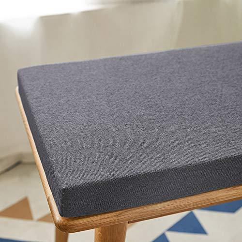 Waigg Kii - Cuscino per panca da giardino, 100/120/150 cm, antiscivolo, 2 3 posti, per interni ed esterni, per sala da pranzo a casa (grigio scuro, 100 x 40 x 3 cm)