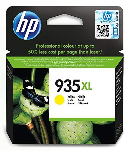 HP 935 XL C2P26AE Cartuccia Originale per Stampanti a Getto di Inchiostro, Compatibile con OfficeJet 6820; OfficeJet Pro 6230 e 6830, Giallo