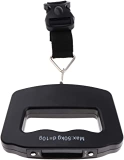 F Fityle Digital Luggage Scale with Backlit Display Suitcase Scale with Hanging Belt