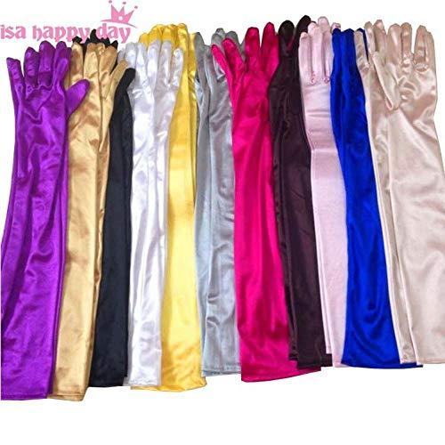 GBSTA Wedding Handschoenen multi kleur bruid bruiloft accessoires bruidskleur wit zwart rood dames pageant jurk satijnen vingers elegante handschoenen Rood