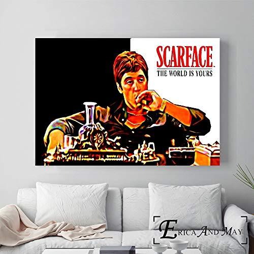 ganlanshu Klassisches Retro Filmplakat Wandmalerei Leinwand Malerei Moderne Kunst Bilddekoration Wohnzimmer,Rahmenlose Malerei-50X75cm