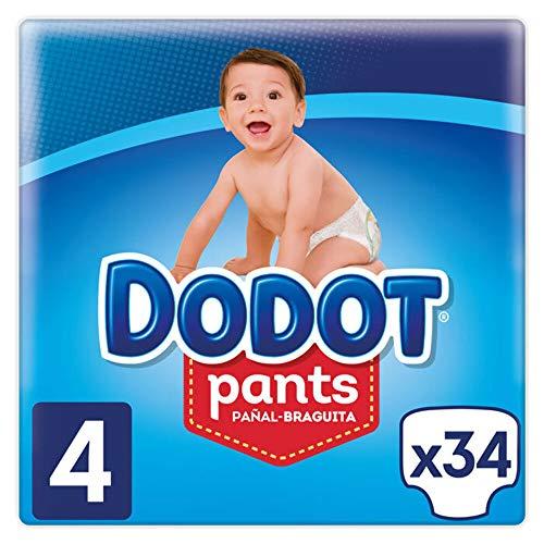 Dodot Pants Pañal-Braguita Talla 4, 102 Pañales, Fácil De Cambiar Con Canales De Aire, 9 a 15kg
