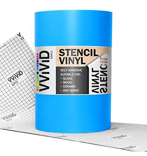 VViViD Blue Low-Tack Adhesive Vinyl Stencil Masking Film Roll (12' x 10ft)
