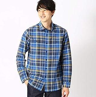 コムサイズムメンズ(COMME CA ISM) 綿麻 カラー チェック シャツ