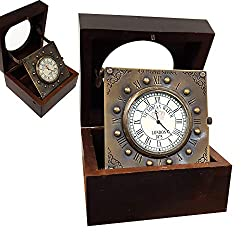 Vintage Titanic Wooden Clock Marine Home Decorative Handmade Article Brass Desk Clock Antique Gift Item