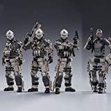 JoyToy 1/18 Action Figures 4-Inch The 20th Army Viper Squad and Betty Soldier Figure PVC Military Model Collection Toys
