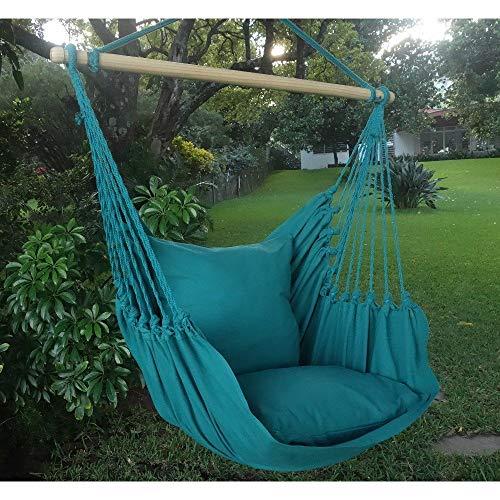 AMAZONAS H/ängesessel Panama Aqua mit Querstab aus Holz 85 cm bis 120 kg in Blau