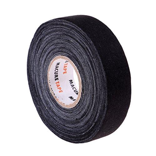 D DOLITY 1 Rolle Wasserdichtes Klebendes Eishockey-Stock-Griffband 25mmx22.5m - Schwarz