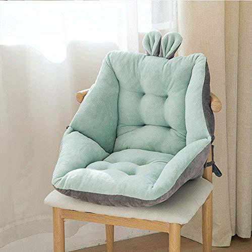 JY&WIN Cojín largo para silla, cojín suave, cómodo, cojín de respaldo para sillas de comedor, oficina, 45 x 45 cm, 52 x 52 cm