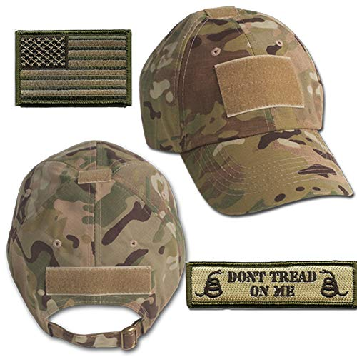 Gadsden and Culpeper Operator Cap Bundle - w USA/Dont Tread Patches (Multicam Cap)