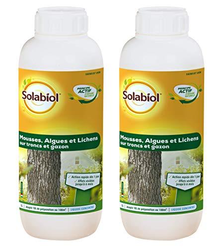 Solabiol - Mousses, algues et lichens sur Troncs et Gazon 2 L - Action Rapide, Effet Visibles jusqu'à 2 Mois - SAMOUS1