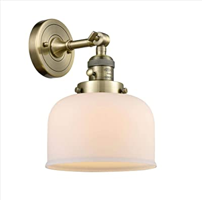 Innovations 203SW-AB-G71-LED 1 Light Vintage Dimmable LED Sconce with a High-Low-Off Switch, Antique Brass