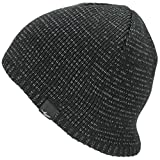 SealSkinz Waterproof Beanie - Black/White Reflective, L/XL/High Viz Hi Visibility Water Resistant Repellent Wet Weather Dry Warm Unisex Adult Hat Cold Weather Season Winter Cap Safe Hike Head Wear