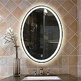 Bathroom mirror 50 * 70cm oval LED Badezimmerspiegel europäischer minimalistischer Anti-Fog-Explosionsgeschützte Wand-Frisierkommode