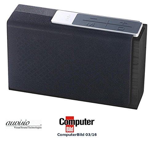 auvisio Akku Lautsprecher: WLAN-Multiroom-Lautsprecher SMR-500.bt, BT, AirPlay, USB, SD, 32 Watt (WLAN Box)