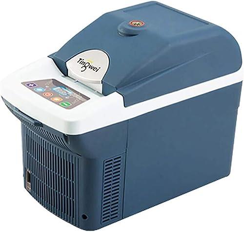 Kievy 6 litres Glacière électrique Portable, Mini Réfrigérateur Frigo Compacts, pour La Conduite, Les Voyages, La Pêche, L'extérieur Et La Maison CA 220V, DC 12V