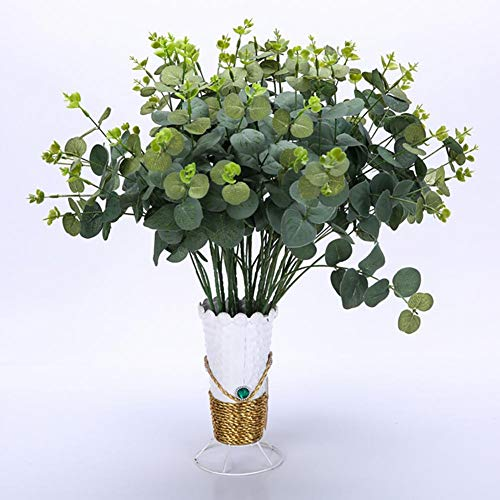 Eruditter Künstliche Balkonpflanzen, Künstlicher Blumentopf Klein, Grünpflanzen Künstlich, Unechte Pflanzen Dekoration Wetterfest Künstliche Pflanzen, Für Drinnen Und Draußen, Haus, Büro