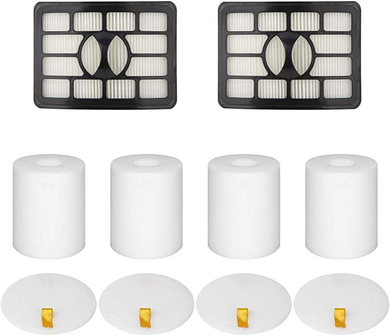 Wolfish 2 4 Pack Vacuum Filters Replacement Compatible For Shark Rotator Pro Lift Away NV500 NV501 NV502 NV503 NV505 NV510 NV520 NV552 UV560 Replace Part Xff500 Xhf500