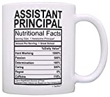 Assistant Principal Gifts Assistant Principal Nutrional Facts Label Principal Appreciation Gift Coffee Mug Tea Cup White