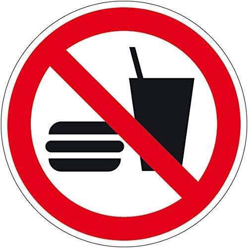Verbotszeichen - Essen und Trinken verboten - Kunststoff - Ø 30 cm